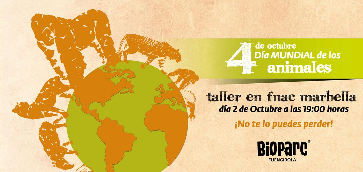Taller día 2 de octubre de BIOPARC en la Fnac de Parque Comercial la Cañada, Marbella
