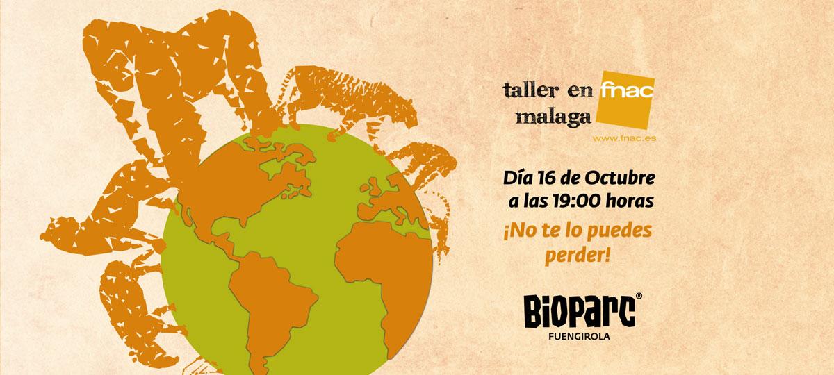 Taller en Fnac Málaga sobre biodiversidad con BIOPARC Fuengirola