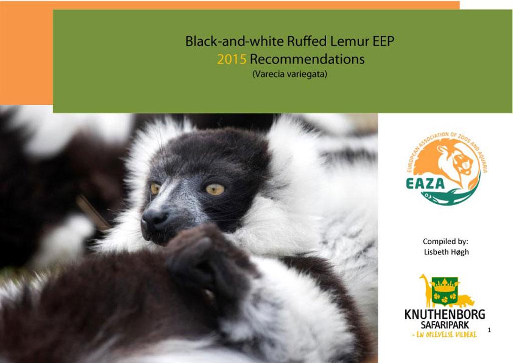 Set de recomendaciones para movimientos de lémures blanquinegros para 2015