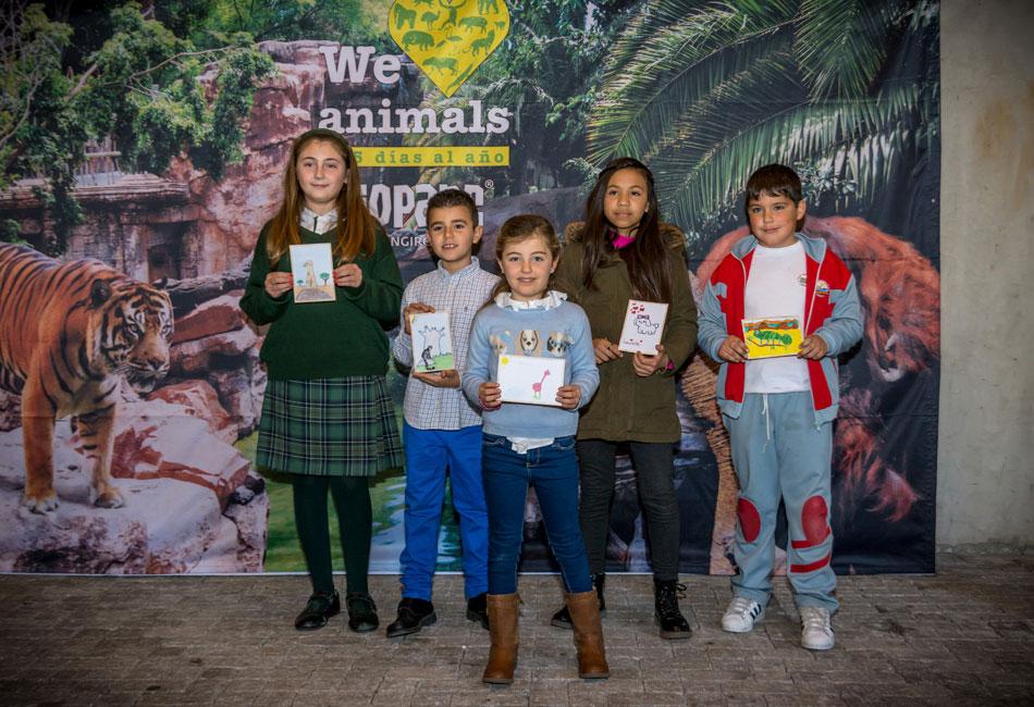 Entrega de premios de la primera edición del concurso de dibujo 'Mi animal favorito'