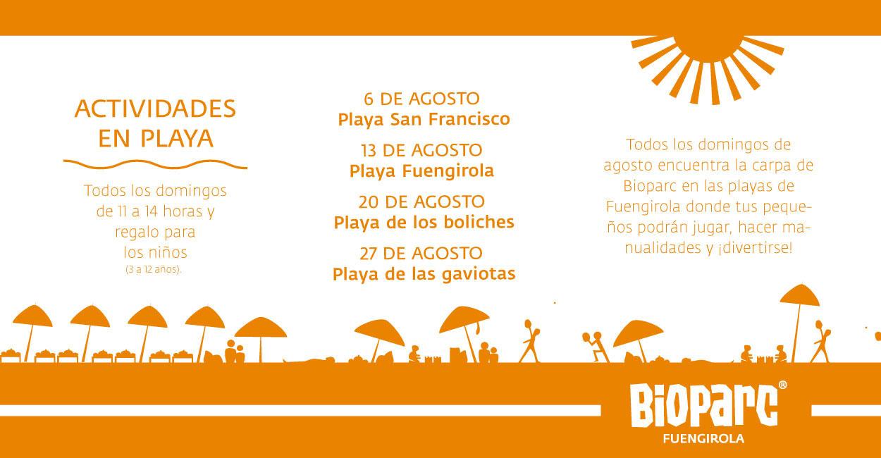 Actividades de Bioparc en las playas de Fuengirola